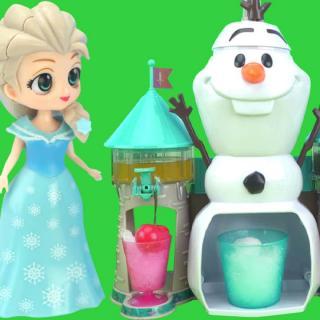 冰雪奇缘刨冰机做美味水果冷饮