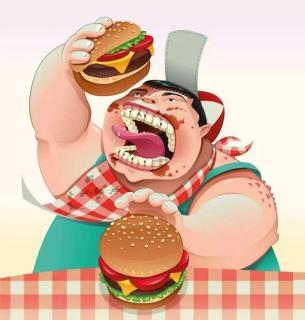 《爱吃汉堡的黑大妖》