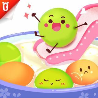 【蔬菜超人】水上滑滑梯:翻滚吧,小汤圆【宝宝巴士故事】