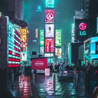 【白噪声】城市之光 雨中的纽约曼哈顿