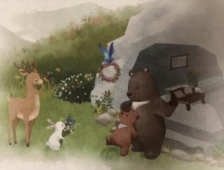 【晚安故事408】《小熊住山洞》